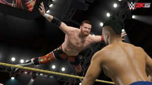 While not up-to-date, the roster does include a number of NXT standouts such as the high-flying Sami Zayn.