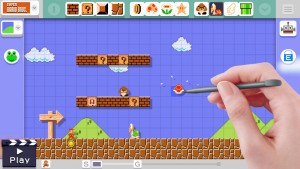 Level creation is intuitive and simple thanks to the touchscreen.