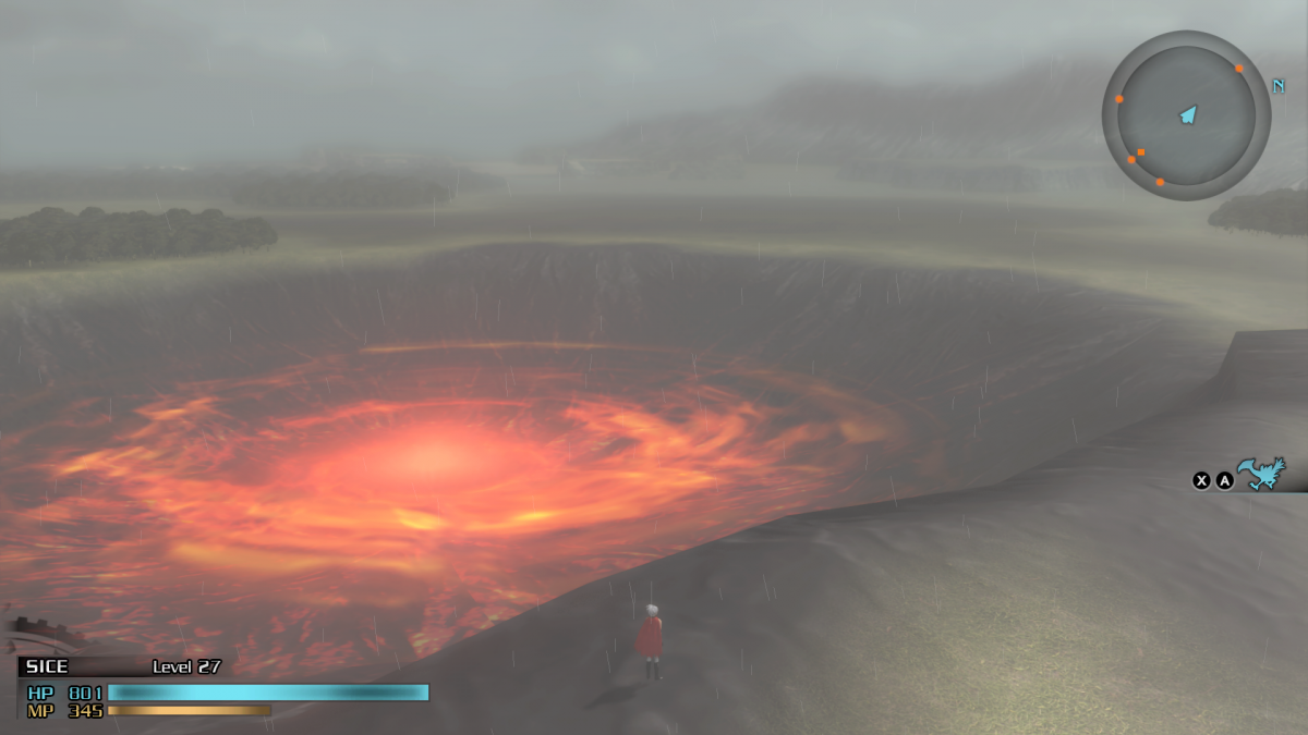 Even the swirling red whirlpool can't make up for its bland surroundings.